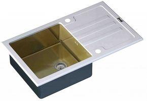 Кухонная мойка ZORG GL-7851-WHITE-Bronze