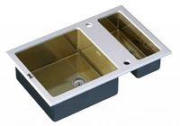 Кухонная мойка ZORG GL-8051-2-WHITE-Bronze