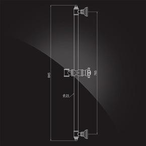 Штанга душевая Elghansa SHOWER RAIL SB-25 845 мм, хром