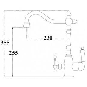 Смеситель для кухни Bennberg 20F5054-02 с подключением под фильтр,бронза