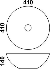 Керамическая раковина Melana MLN-J2056