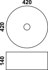 Керамическая раковина Melana MLN-J2077