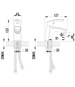 Смеситель Lemark Plus Strike LM1106C для раковины