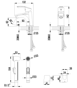 Смеситель Lemark Plus Strike LM1116C для раковины и биде