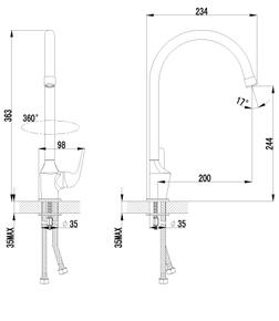 Смеситель Lemark Plus Advance LM1205C для кухни