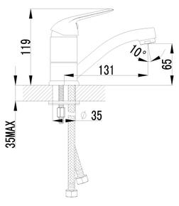 Смеситель Lemark Plus Advance LM1207C для умывальника
