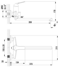 Смеситель Lemark Plus Advance LM1251C для ванны