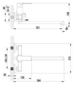 Смеситель Lemark Plus Grace LM1551C для ванны
