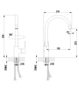 Смеситель Lemark Plus Factor LM1651C универсальный