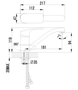 Смеситель Lemark Plus Shape LM1704C для кухни