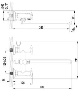 Смеситель Lemark Plus Spirit LM1951C универсальный
