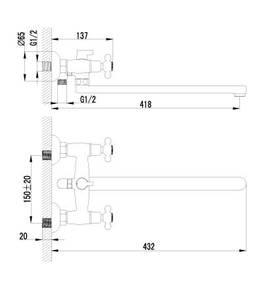 Смеситель Lemark Standard LM2112C универсальный