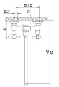 Смеситель Lemark Standard LM2151C для ванны
