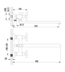 Смеситель Lemark Neo LM2212C для ванны
