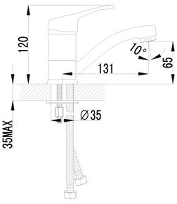 Смеситель Lemark Omega LM3107C для раковины