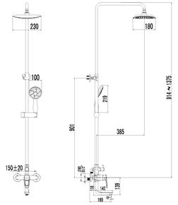 Душевая система Lemark Omega LM3162C