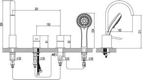 Смеситель Lemark Atlantiss LM3241C для ванны