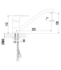 Смеситель Lemark Pramen LM3304C для кухни