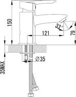 Смеситель Lemark Mars LM3506C для раковины