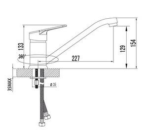 Смеситель Lemark Luna LM4104C для кухни