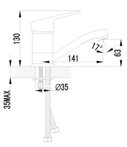 Смеситель Lemark Luna LM4107C для раковины