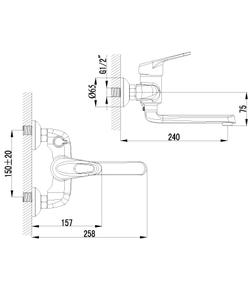 Смеситель Lemark Luna LM4114C для ванны