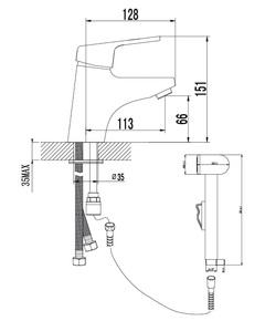 Смеситель Lemark Luna LM4116C для раковины и биде