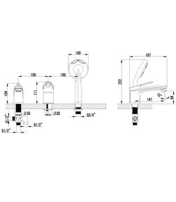 Смеситель встраиваемый Lemark Luna LM4145C универсальный