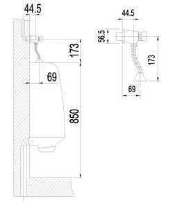 Смывное устройство Lemark Project LM4612C для писсуара