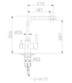 Смеситель Lemark Expert LM5061S для кухни с подключением к фильтру с питьевой водой