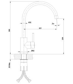 Смеситель Lemark Expert LM5078S для кухни