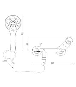 Смеситель для ванны Lemark Wing LM5302C