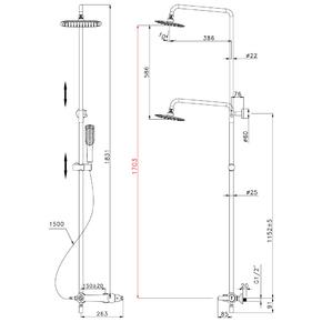Душевая система Lemark Swan LM5462BG со стационарной лейкой