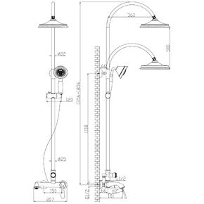 Душевая система Lemark Intense LM5662C со стационарной лейкой