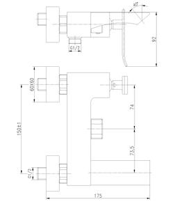 Смеситель для ванны Lemark Contest LM5814CW