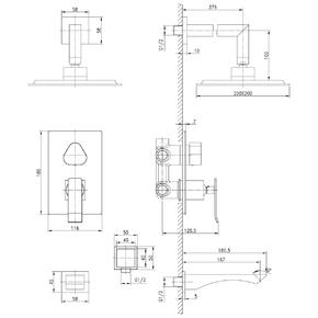 Душевая система скрытого монтажа Lemark Contest LM5822CW