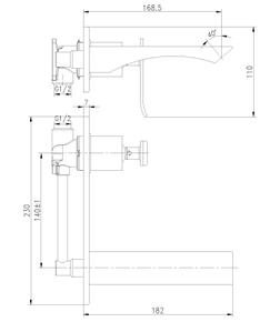 Смеситель для умывальника скрытого монтажа Lemark Contest LM5826CW