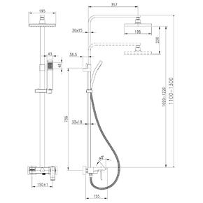 Душевая система Lemark Contest LM5862CW со стационарной лейкой