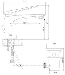 Смеситель для умывальника Lemark Allegro LM5906CW
