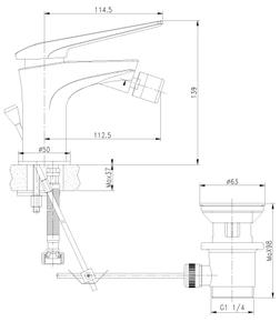 Смеситель для биде Lemark Allegro LM5908CW