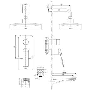 Душевая система скрытого монтажа Lemark Allegro LM5922CW