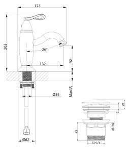 Смеситель для умывальника Lemark Prime LM6106BRG