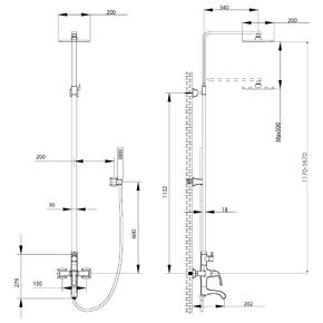 Душевая система Lemark Nubira LM6262ORB со стационарной лейкой