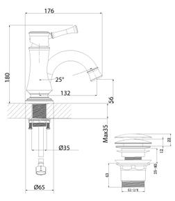 Смеситель для умывальника Lemark Peretto LM6306RB