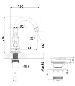 Смеситель для умывальника Lemark Peretto LM6307RB
