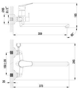 Смеситель Lemark Partner LM6551C для ванны