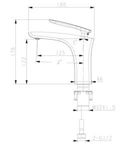 Смеситель для умывальника Lemark Bellario LM6806C