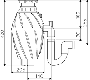 Измельчитель пищевых отходов OMOIKIRI NAGARE 750