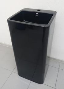 Керамическая напольная раковина моноблок CeramaLux P7004LВ, черный глянцевый