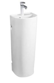 Керамическая напольная раковина моноблок CeramaLux PB1017